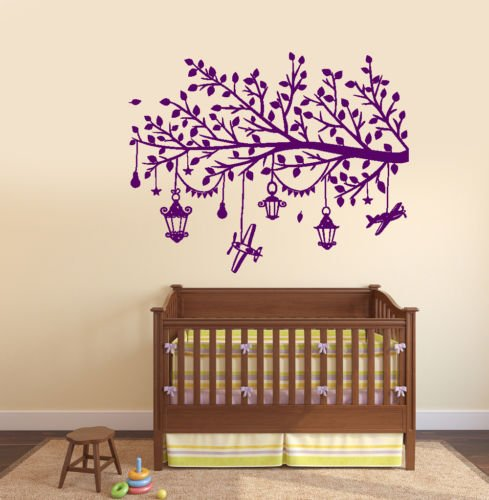 Edwiin Jackson Vinilo de pared removible calcomanía Art Decor Kids Room rama con juguetes niños guardería decoración