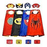 GEWDW Superhelden Kostüme für Kinder 3-12 Jahre mit Maske Schnapparmband,Spiderman kostüm Kinder Spielzeug ab 3-12 Geschenke für Kinder 5 Jahre Spielzeug ab 3-10 Jahren für Jungen Mädchen