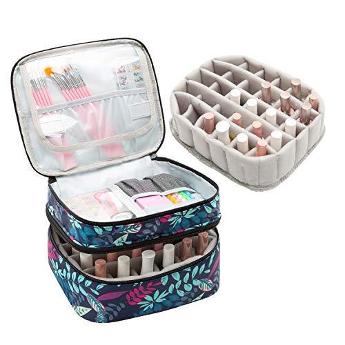 AFUOWER Bolsa organizadora de esmalte de uñas con asas, estuche de viaje bolsa de almacenamiento portátil para manicura – Capacidad...