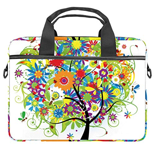 13.4'-14.5' Laptop Case Notebook Cover Business Daily Use or Travel Colorful Rainbow Painting Tree