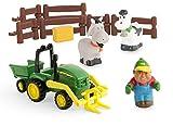 TOMY John Deere Mein erster Bauernhof Spielset - Bauernhofset zum Spielen für drinnen und draußen - für Kleinkinder ab 12 Monate -