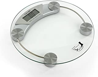 Homes r us Camry Electronic Personal Scale - Clear Glass, Silver