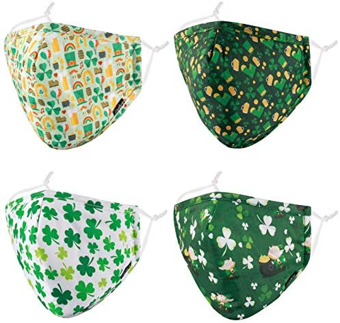 Cloth Face Mask Reusable Breathable Women Men Adult Happy St Patricks Day Saint Holiday Green product image
