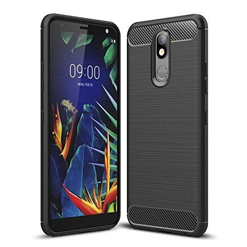 CoverKingz Handyhülle für LG K40 - Silikon Handy Hülle LG K40 - Soft Hülle Carbon Farben schwarz