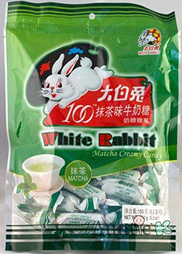 White Rabbit Green Tea Matcha Milk Creamy Candy 5.3 oz