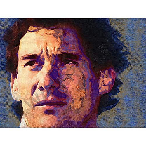 JR Bouvier Ayrton Senna Formula One Large Art Print Poster 18x24 inch