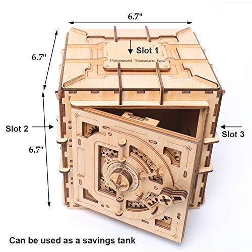 YOFIT Mechanical Models,3D Wooden Puzzle,Model Safe Kit,Mechanical 3D Safe