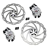 Tektro LYRA MD-C500 Cyclocross CX Road Mechancial Disc Brake Set Front and Rear, Silver, MH1874-N
