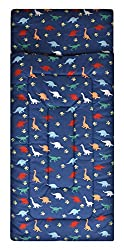 4. American Kids Navy Dino Sleeping Bag