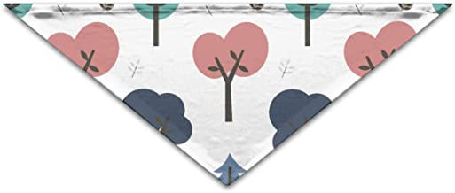 """Grebsw Elliptical Tree 1 Soft Washable Pet Triangle, 11.8"""" 25.6"""", Suitable for Puppies, Kittens, Rabbits"""