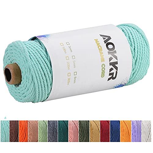 Cuerda de Algodón 5Mm Verde Marca AOKKR