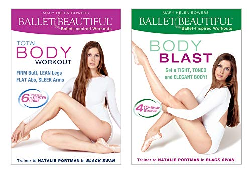 Ballet Beautiful Workout DVD 2 Pack - Total Body Workout and Body Toning Blast. Mary Helen Bowers Barre Dance Inspired Fitness DVD Bundle