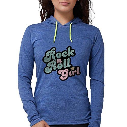 CafePress Rock N Roll Gir Long Sleeve T Shirt Womens Hooded Shirt Heather Blue