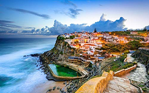 Puzzle 1000 Piezas Rompecabezas Adultos DIY Grande Wooden Jigsaw Puzzles Sintra, Portugal Puzzle Adultos 1000 Piezas Rompecabezas De Juguete Regalo