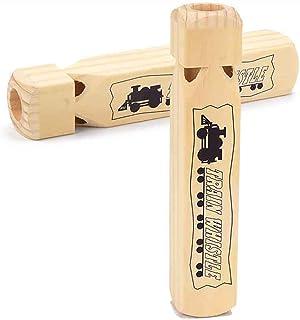 YsaAsaa Sifflet de train en bois, instrument de musique en bois, jouet éducatif pour enfants