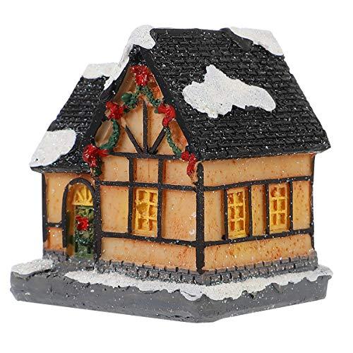 TOYANDONA Maison de Village de Noël avec Lumière LED Maisons de Village Ville Éclairée Bâtiment de Table Décoration de Noël Figurine de Noël Décor de Vacances