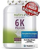 PROTEINPULVER Neutral 1kg (TESTSIEGER Eiweißpulver 2019) - 85% Eiweiß - Nutri-Plus Shape & Shake...
