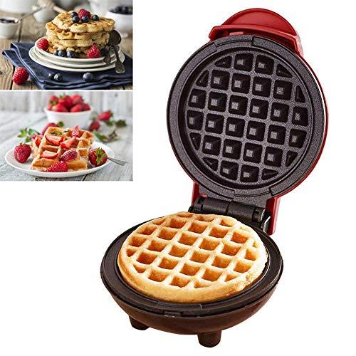 Zidao Mini Waffeleisen Maschine, Elektrische Pfannkuchenmaschine, Antihaft, Tiefe Kochplatten, Kleine Waffeleisen Für Kinder Machen Kekse, Pfannkuchen,Rot