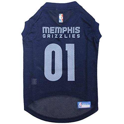 NBA MEMPHIS GRIZZLIES DOG Jersey, Medium - Tank Top Basketball Pet Jersey