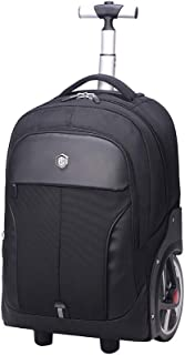 Sturdy Fashian Business Trolley Handbag Big Wheel Trolley Backpack Handbag Waterproof Handbag Large Capacity (Color : Black, Size : 18 INCHES)
