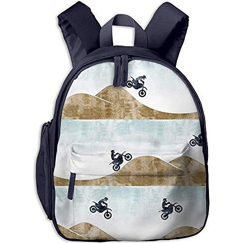 Büchertasche,Kinderschultasche,Kindergarten Backpack,Junge/Mädchen Tagesrucksack,Leichter Tagesrucksack Für Motorradabenteuer,Kinderschultertasche