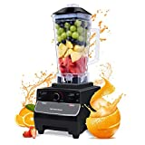 Blender 2000W 10-Speed Smoothie Blender with 2L BPA-Free Tritan Container 33000 RPM 8 Blades in Stainless Steel 304 for Ice/Soup/Nuts Milk Shake Maker Black