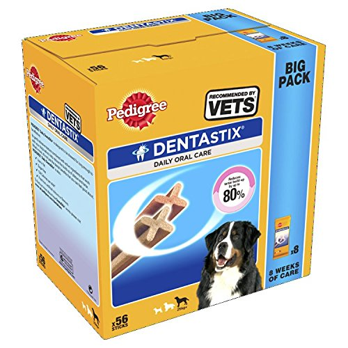 Pedigree Dentastix Diario Oral Cuidado Dental Masticables, GRANDE PERRO 56...