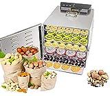 ZLSP 6 Capas 30 □ ~ 80 □ Deshidratador de Alimentos Acero Inoxidable Smart Digital Control Tiempo 400W, Carne, Carne de Res, máquina de Frutas secas