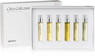 AromaTech Cities Collection. Discover All Six Cities New York, London, Tokyo, Vancouver, Dubai, Moscow, Fragrance Set.