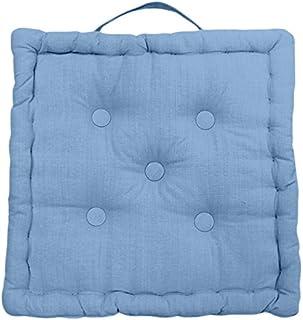 Soleil d'ocre Cojín de Suelo de algodón 50x50x10 cm Panama Azul
