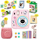Fujifilm Instax Mini 9 Camera Hellokitty + Instant Camera Hellokitty Set+Fuji + Instax Mini 9 Case + Instax Accessories Kit Bundle, Instant Camera Gift Sets (Global Limited Edition) -Hellokitty
