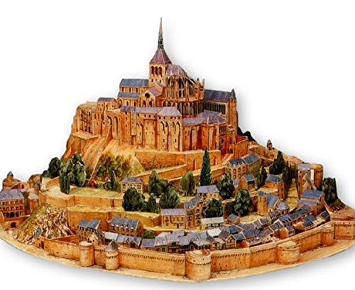ペーパークラフト建築物モンサンミッシェル世界遺産アートキットセットレプリカ(35cm)