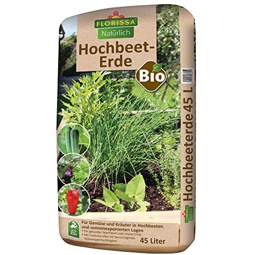 Florissa Bio Hochbeeterde (45 l), mit hervorragender Wasserspeicherfähigkeit