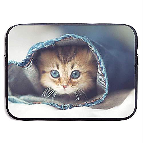 Geschäfts-Aktenkoffer-Hülsen-Nette Katzen in der Hosen-tragbaren Laptop-Schutztasche für Computer