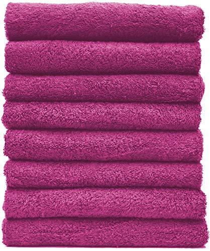 NatureMark NM-HT0701 8-er Spar-Pack Frottier Handtücher, 50 x 100 cm, Pink