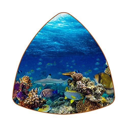 Underwater Coral Reef Landscape Juego de 6 Posavasos para Bebidas para el...