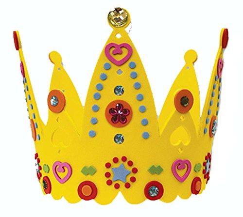 EVA Enfants main Hat Creative Sun Hat Birthday Hat Crown Nursery