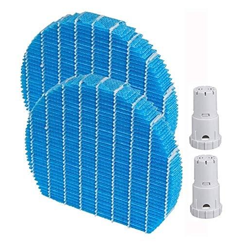 Style wei Filtro para Aire Acondicionado Pieza de Repuesto Conjunto de Filtro purificador de Aire de humidificación FZ-Y80MF y AG + Ion Cartucho FZ-AG01K1 (compatibles artículo / 2 Juegos Reemplazo