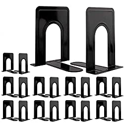 in budget affordable Jekkis metal book holder, 10 pairs / 20 pieces high performance book stand, 6.6 x 5.7 x 4.9 inches, black book stand …