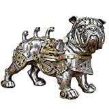 YJKJ Mechanical Dog Statue, Steampunk French Bulldog Sculpture, Resin Ornaments Collectibles Crafts Gifts for Home Decorations