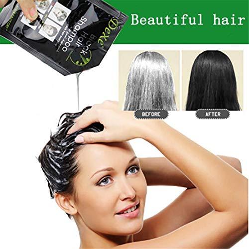 Happy Event 10PCS Dexe Schwarz Haar Shampoo temporäre haarfärbemittel Schwarz Haarfarbe Produkt Chinesischen Kräuter Entfernung Grau