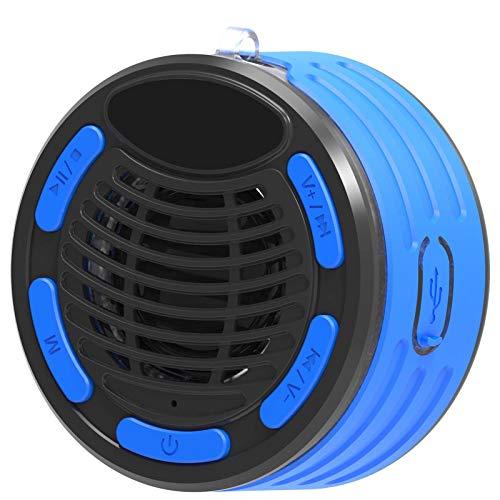 Altavoz Bluetooth, Altavoz Impermeable De 7 Niveles con Pantalla De Tiempo para Ducha, Fiesta En La Piscina, Viajes, Playas, Natación, Senderismo, Acampada