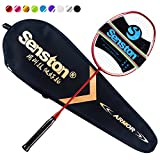 Senston N80 Grafito Raqueta de Bádminton,Badminton Racket de Fibra Carbono,Incluyendo bádminton Bolsa