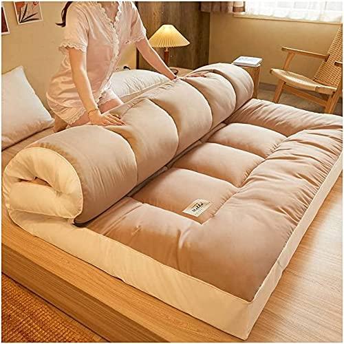 HBFG Materasso da pavimento giapponese Futon spesso, in casa studentessa, pieghevole, tatami giapponesi, ideale per dormire, dormire, tatami, leggero da portare con sé