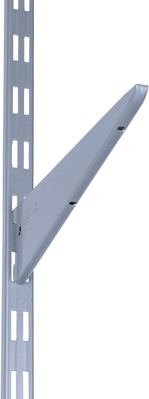 Silber 2-reihig PRIOstahl/® WANDSCHIENEN f/ür REGALTR/ÄGER Regalhalter Wandregal Regalbodentr/äger Regal Regalwinkel 2 x SCHIENEN 500 mm