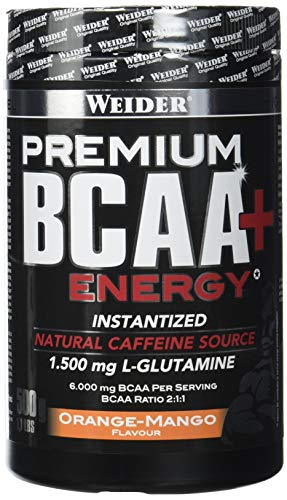 Weider Premium BCAA Powder+Energy Orange-Mango, 500 g