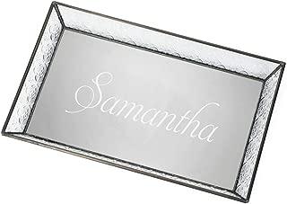 monogrammed vanity tray