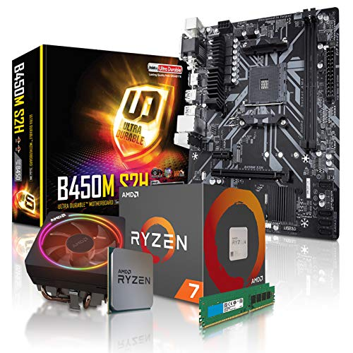 dcl24.de PC Aufrüstkit [11780] AMD 7-3800X 8x3.9 GHz - 32GB DDR4, B450 Mainboard Bundle Kit, ohne onBoard Grafik, eigenständige Grafikkarte notwendig