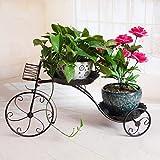 Soporte para triciclo de plantas Youlan-jiaju RUANLAN de metal para bicicletas, macetero nostálgico, jardín, balcón, planta, decoración para el hogar, patio, jardín