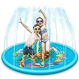 HSRG Sprinkle & Splash – Esterilla de juego, 168 cm, plegable, portátil, aspersor de agua para niños pequeños, fuente de juego, campo de juego para actividades al aire libre